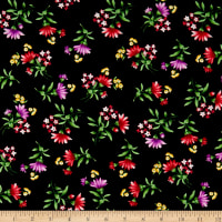 Botanical Blooms Wildflower Toss Black