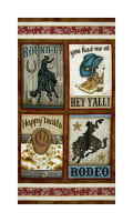 "Rodeo Round Up 23.5"" Rodeo Panel Multi"