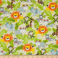 Bungle Jungle Animal Collage Cream