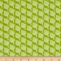 Bungle Jungle Leaf Print Green