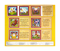 "Little Readers 35"" Nursery Rhymes Book Panel Multi"