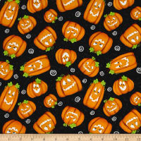 Chills & Thrills Pumpkins Glow In The Dark Black