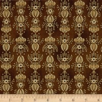 Kim Diehl Farmstead Flocked Wallpaper Hickory