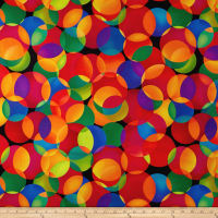 "Digital 108"" Wide Back Dotcentric Large Overlapping Dots Multi"