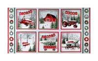 "Holiday Wishes Winter Scenic Block 24"" Panel Multi"