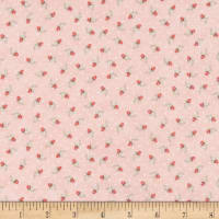 Gentle Garden Flannel Calico Buds Blush