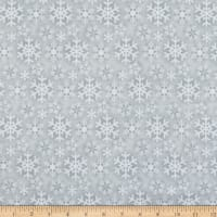 Flannel Frosty Friends Snowflake Gray