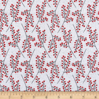 Flannel Frosty Friends Tree Branches White/Multi