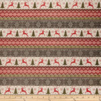 Believe Christmas Sweater Stripe Cream