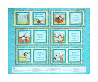 "Splish Splash Bathtime Sheep 36"" Panel Book Panel Blue"