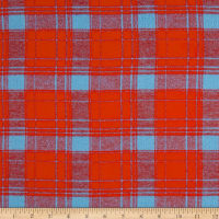Yarn Dyed Flannel Plaid Red & Blue