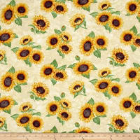 Here Comes The Sun Metallic Sunflower Clusters Cream