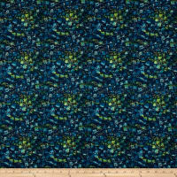 Here Comes The Sun Metallic Watercolor Squares Teal