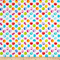 Kanvas All About Color Watercolor Dots White