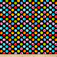 Kanvas All About Color Watercolor Dots Black