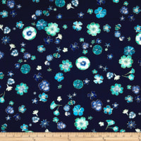 Kanvas Floral Impressions Pressed Flowers Navy