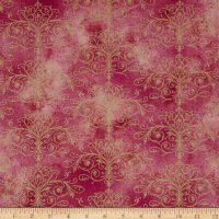 Kanvas Floral Impressions Washed Tonal Filigree Rose Gold
