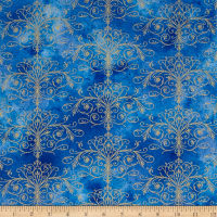 Kanvas Floral Impressions Washed Tonal Filigree Royal Gold