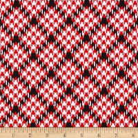 Kanvas Scottish Charm Houndtooth Hearts White