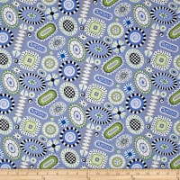 Folk Art Fantasy Rugs Light Periwinkle
