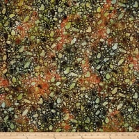 Bali Batiks Desert Valley Pebbles Coral/Brown