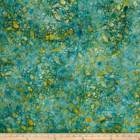 Bali Batiks Meadow Song Pebbles Blue/Gold