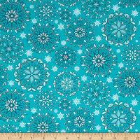 Contempo  Winter Games Snowflakes Teal