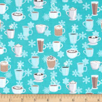 Contempo  Winter Games Latte Aqua