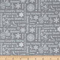 Contempo  Winter Games Text Grey