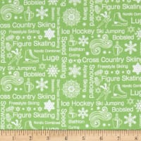 Contempo  Winter Games Text Green