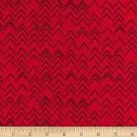 Contempo  Modern Marks Herringbone Red
