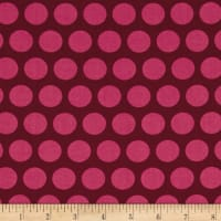 Contempo  Dot Crazy Large Dot Burgundy