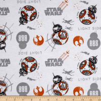 Star Wars The Last Jedi B8B Flannel White