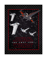 "Star Wars The Last Jedi Resistance Ships 44"" Panel Carbon"