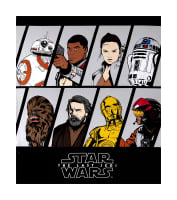 "StaR Wars The Last Jedi Resistance Characters 44"" Panel Black"