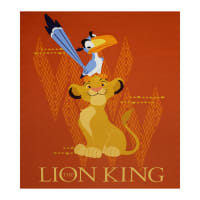 "Disney The Lion King 35"" Panel Orange"