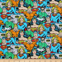 DC COMICS ll Superhero Crowd Jersey Knit Multi