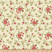 Benartex Homestead: Colonial Rosette Cream