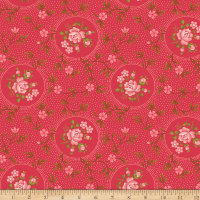 Benartex Homestead: Colonial Rosette Red