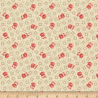 Benartex Homestead: Colonial Blossom Rose Cream