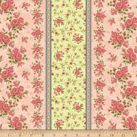 Benartex Homestead: Colonial Border Rose