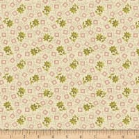Benartex Homestead: Country Blossom Green/Cream