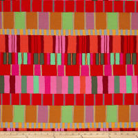 Kaffe Fassett Artisan Layered Stripe Red