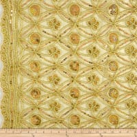 Coco Star Sequin Lace Gold