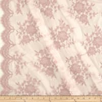 Chantilly Lace Double Border Taupe