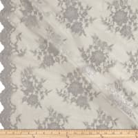 Chantilly Lace Double Border Silver