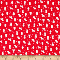 Lecien Minny Muu Polar Bears Red