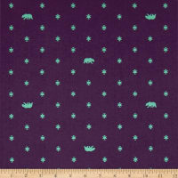 Tula Pink Spirit Animal Bear Hug Lunar Glow