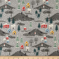 Lewis & Irene Snow Day Scene Pearlized Accent Metallic Grey