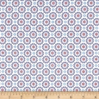 Lewis & Irene Hygge Christmas Heart Snowflakes Icy Blue